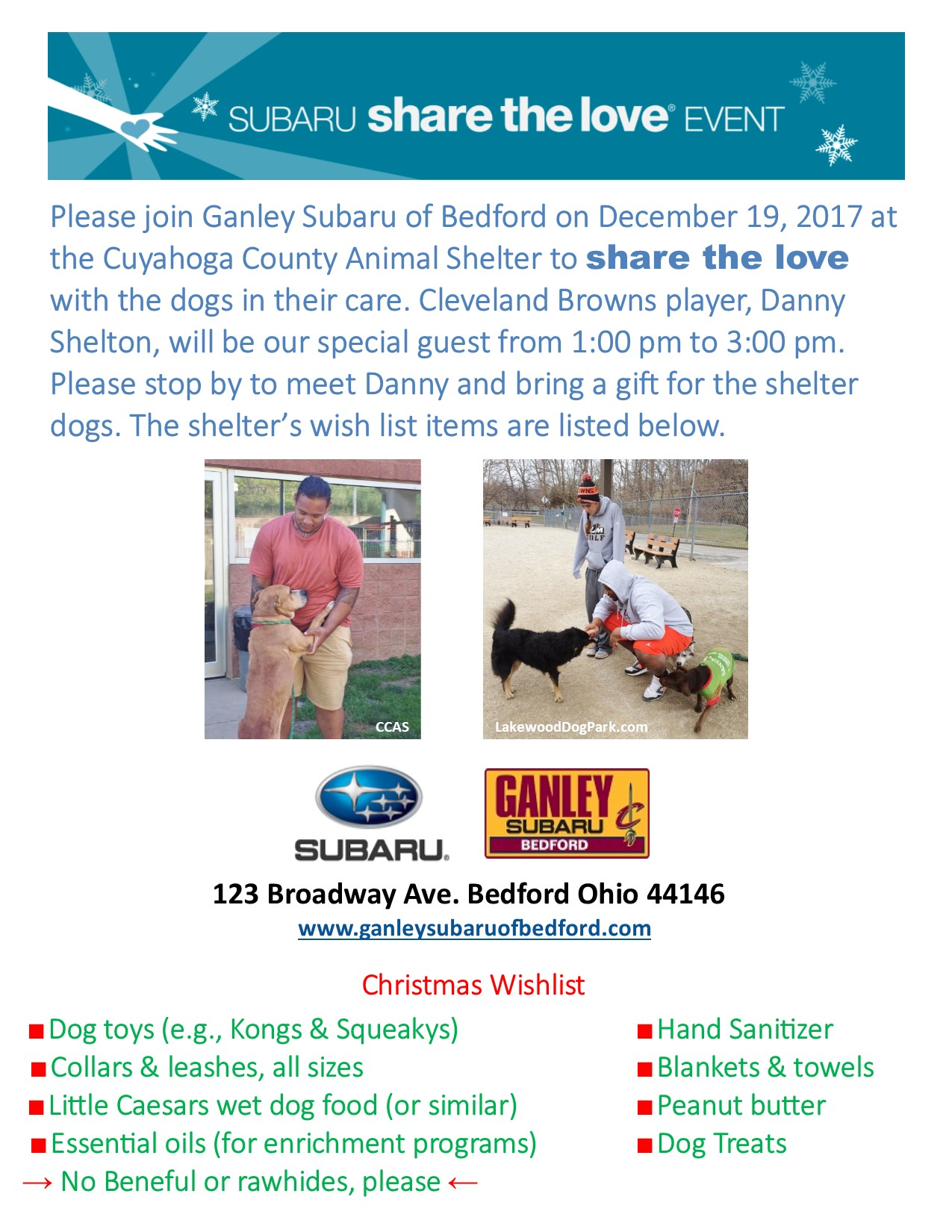 Share the Love at Cuyahoga County Animal Shelter | Lakewood Dog Park